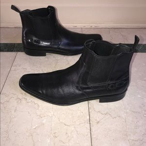Hugo Boss Black Leather Ankle Boots